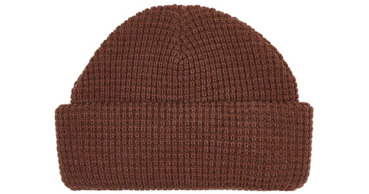 TOPMAN Tobacco Super Mini Waffle Beanie in Brown for Men - Lyst f149837a141