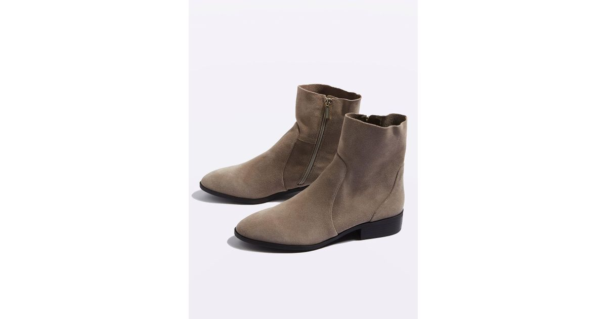 topshop klash leather sock boots in brown lyst