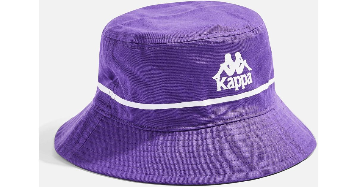 dea56b4145eea Lyst - Kappa Purple Authentic Bucket Hat By in Purple