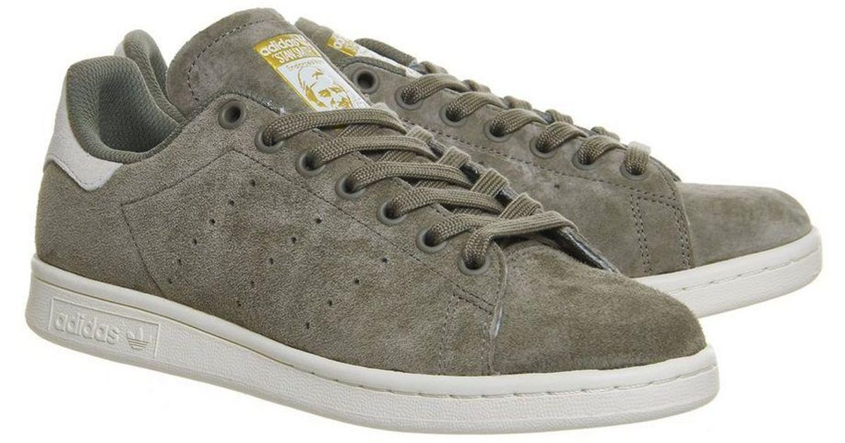hot sale online 43bf4 b57bf Office - Green Adidas Stan Smith Trainers - Lyst