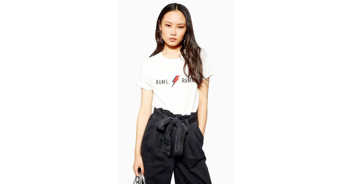5deaafe375e84 TOPSHOP Rebel Rebel T-shirt By And Finally in White - Lyst