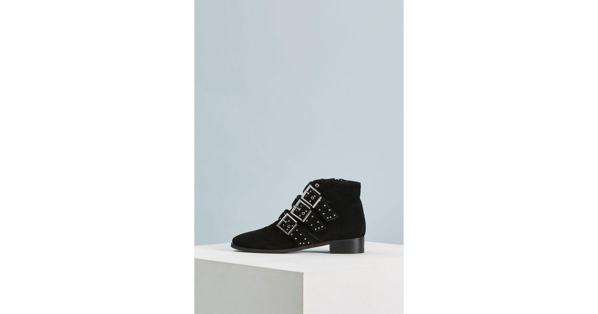 1fd7615d024e TOPSHOP Krown Studded Boots in Black - Lyst