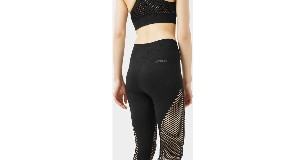 3de5fdadb4dbb0 TOPSHOP Fishnet Seamless Ankle Leggings By Ivy Park in Black - Lyst