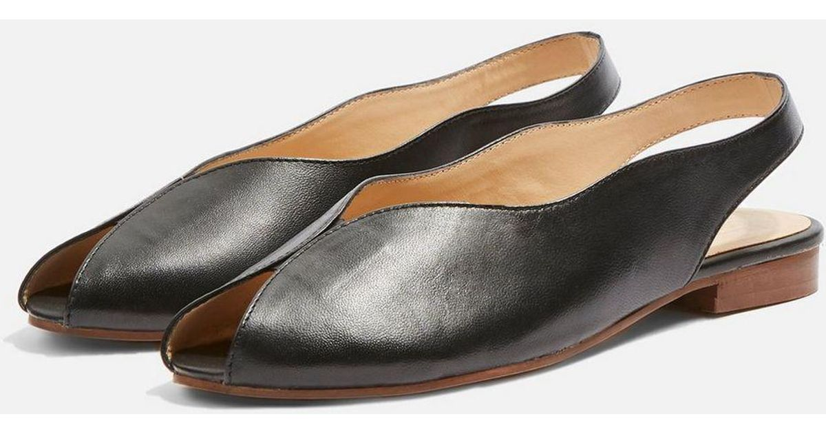 262f487bf06 TOPSHOP Oracle Slingback Shoes in Black - Lyst