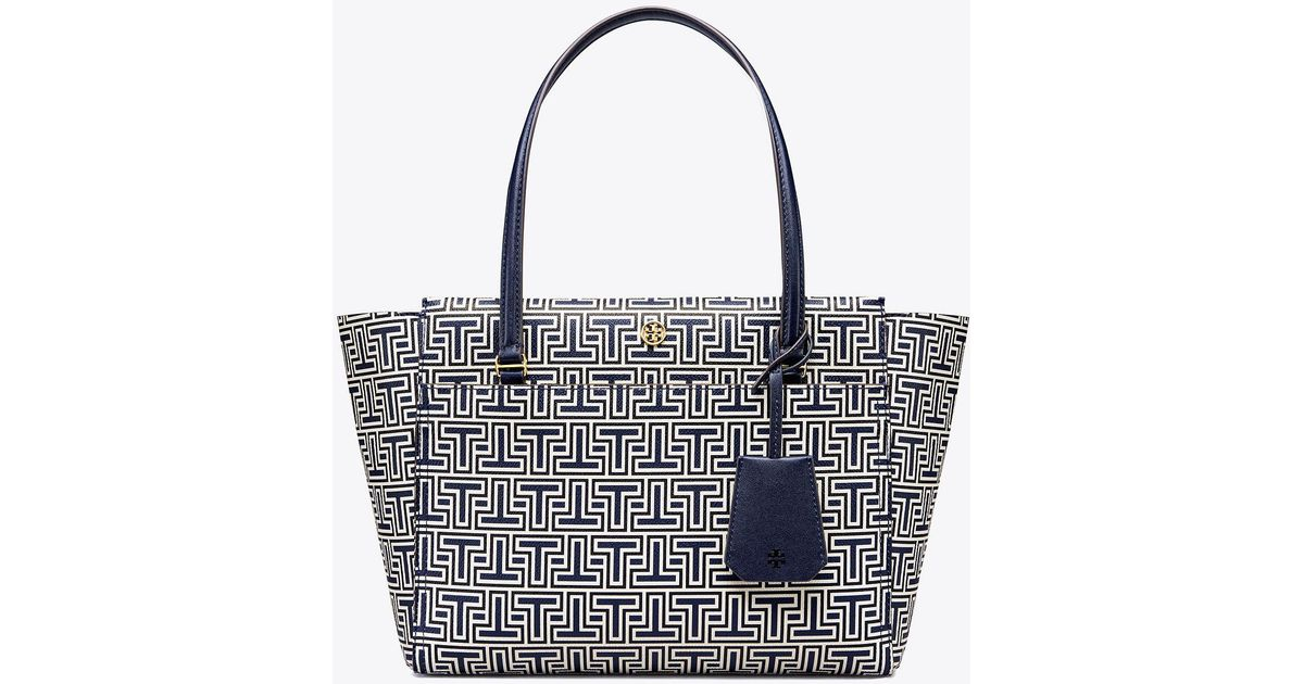 6828dad8743 Lyst - Tory Burch Parker Geo-t Small Tote in Blue