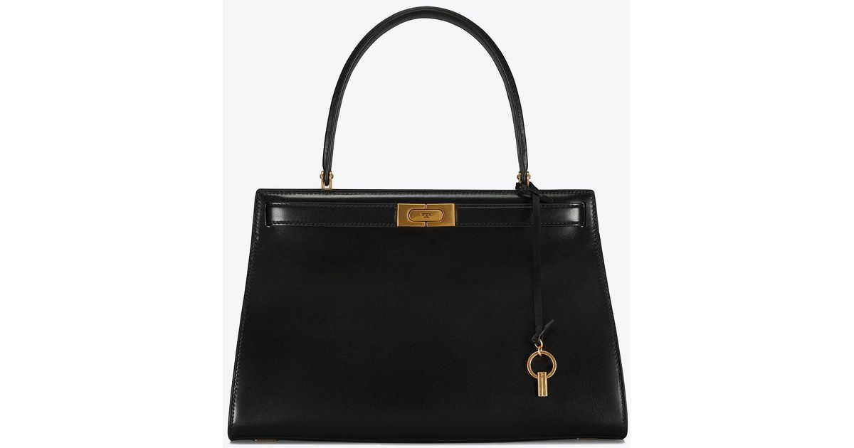 308692b9cc50 Tory Burch Lee Radziwill Bag in Black - Save 19% - Lyst