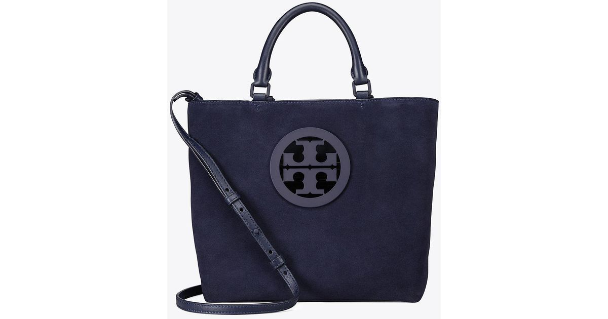 272b94d5962 Tory Burch Charlie Small Tote in Blue - Lyst