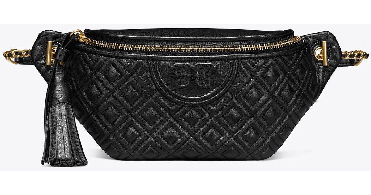 3124a5d5518d Lyst - Tory Burch Fleming Belt Bag in Black