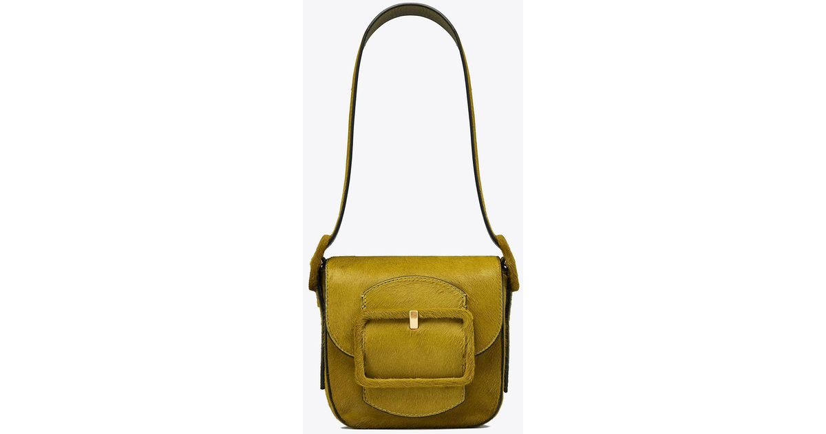 5825101ab561 Tory Burch Sawyer Calf Hair Mini Shoulder Bag - Lyst