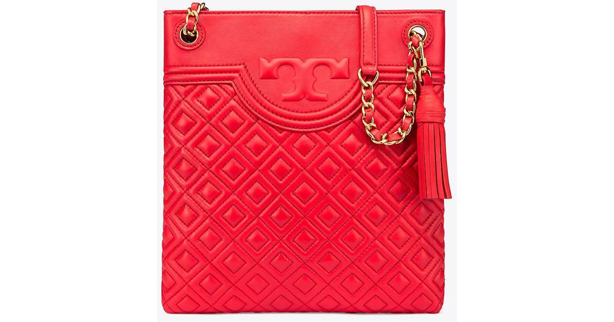 04bba88aa12 Tory Burch Fleming Swingpack in Red - Lyst