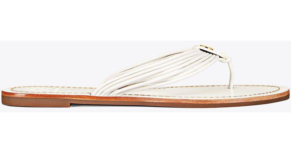 7261d54de4e5 Tory Burch - White Sienna Flat Thong Sandal - Lyst
