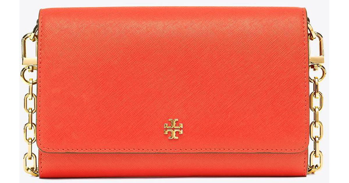 87f39c1bc02c ... cheapest lyst tory burch robinson chain wallet in red 6d5c8 4de1b ...