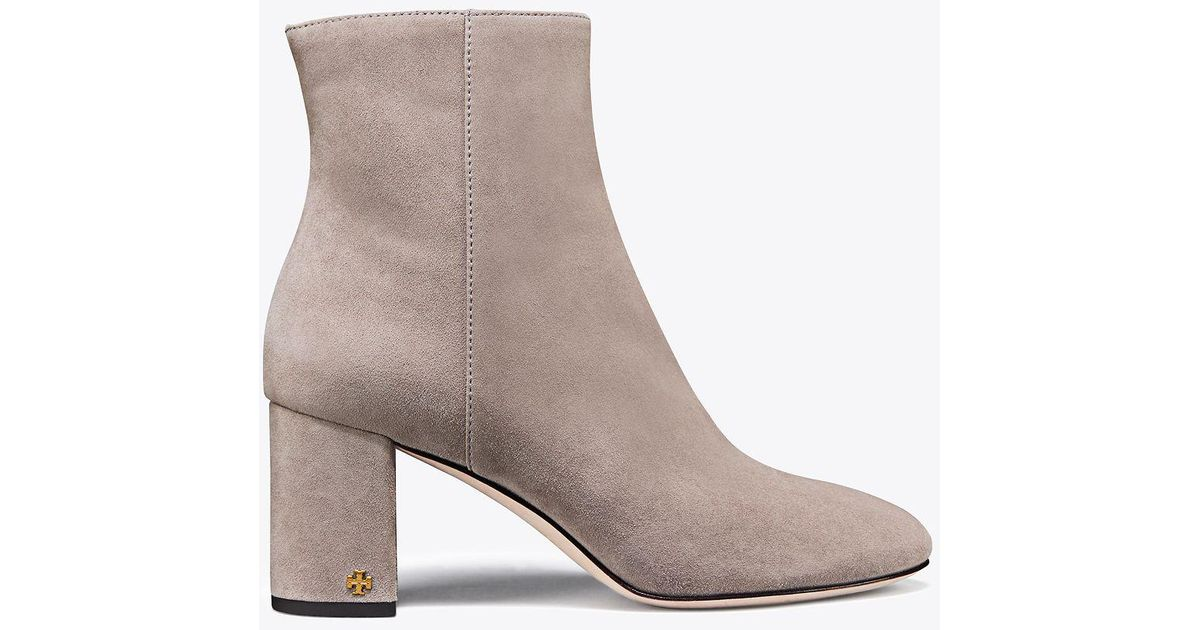 111181e6d Lyst - Tory Burch Brooke Suede Bootie in Gray