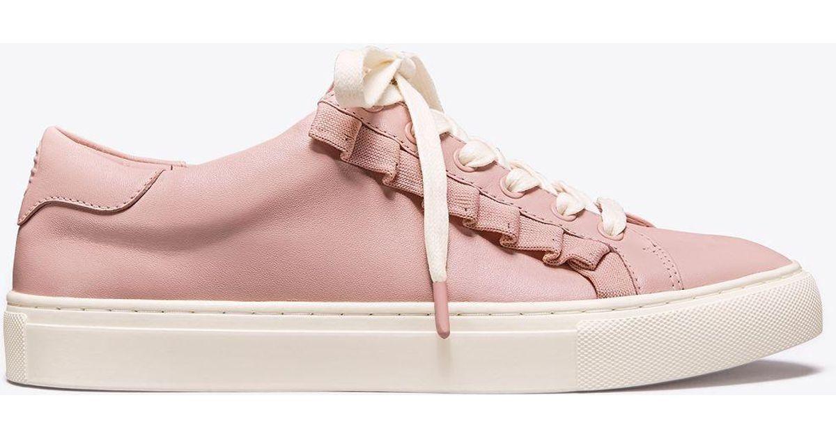 3e692eeca06 Tory Sport Ruffle Sneaker in Pink - Save 13% - Lyst