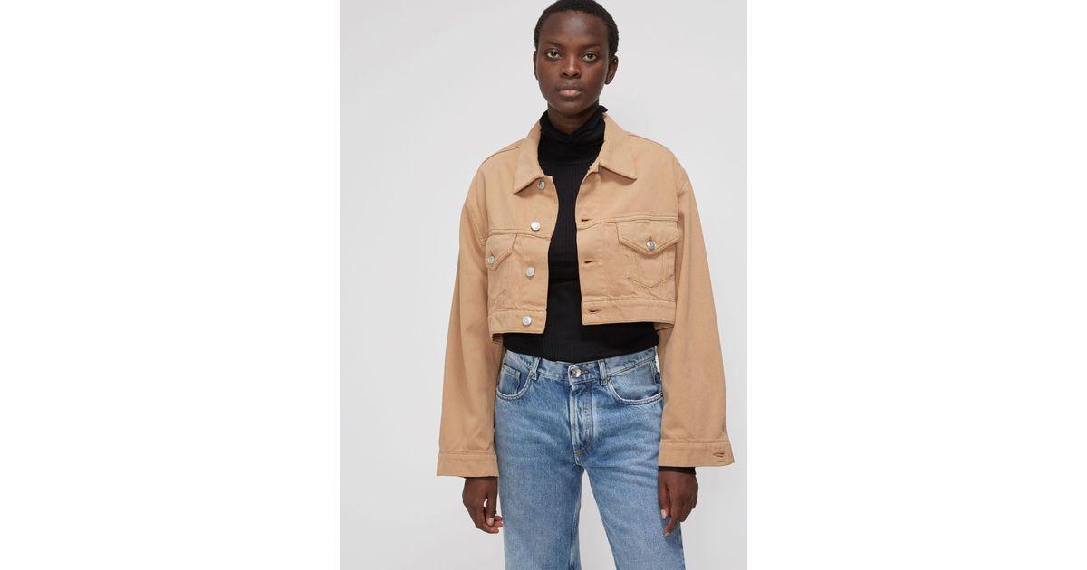c1e00a9a0f1 Ganni Cropped Denim Jacket in Blue - Lyst