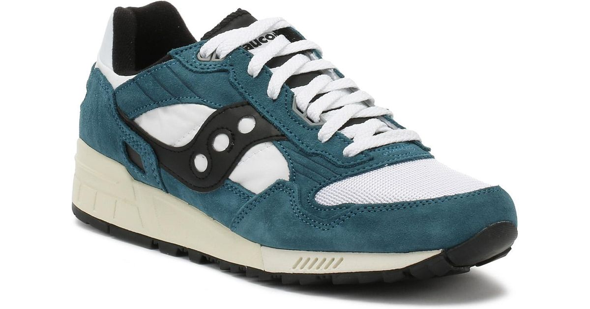 big sale 9c8bc 1c7f5 Saucony - Blue Mens Teal / White / Black Shadow 5000 Vintage Trainers for  Men - Lyst