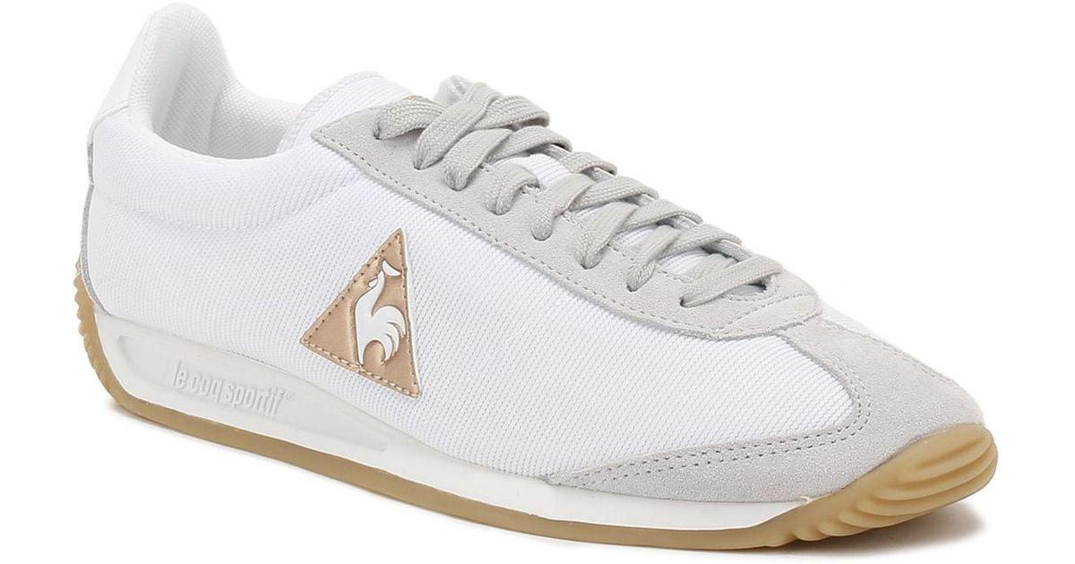 1b750bd16e2f ... leather quartz sneakers jack ceb2b 6c2cc  switzerland lyst le coq  sportif womens optical white galet quartz w trainers in white 4c640 7cb32