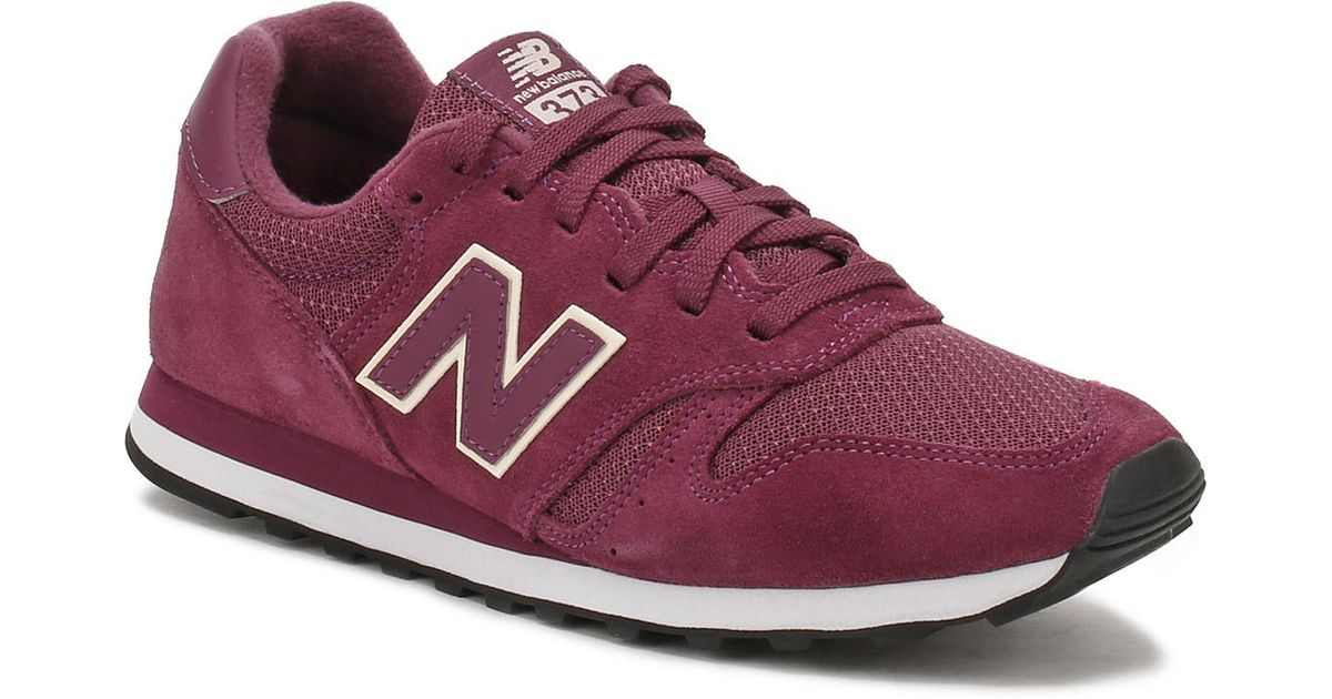 20e306d7a5108 New Balance Womens Burgundy Suede 373 Trainers in Purple - Lyst
