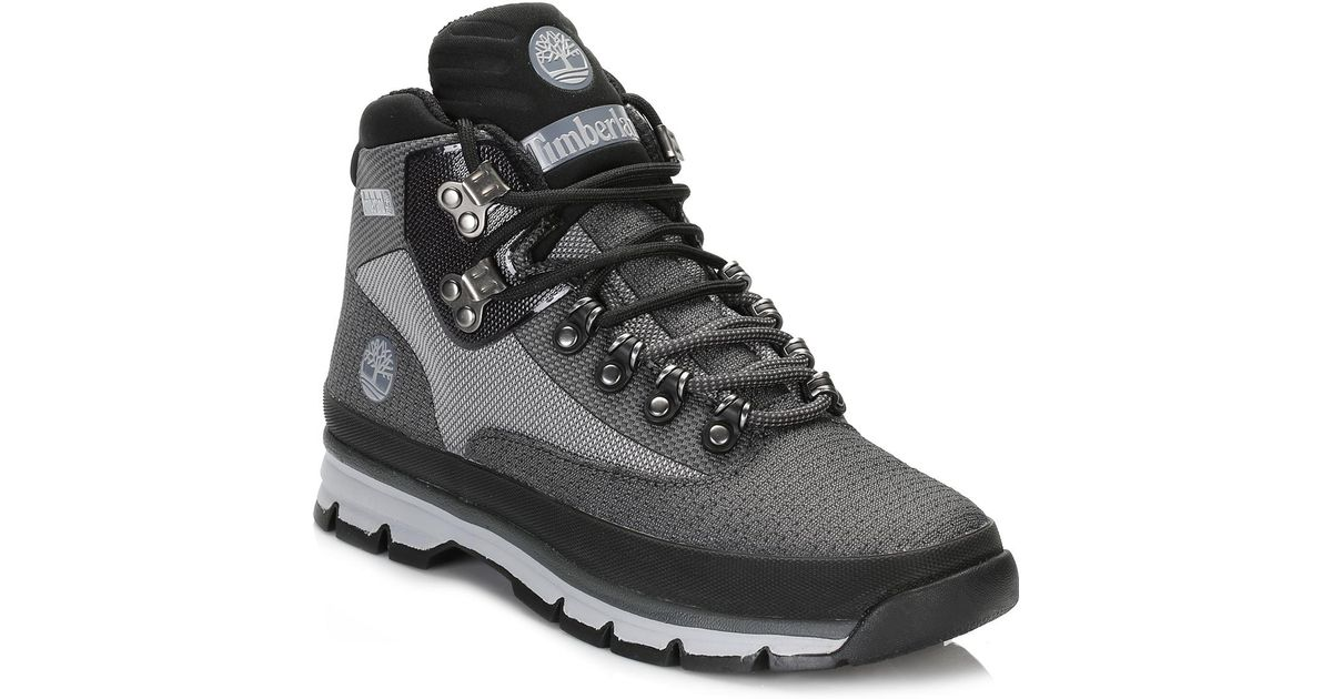 95d6fd58a5da1f Timberland Mens Grey Euro Hiker Jacquard Boots in Gray for Men - Lyst