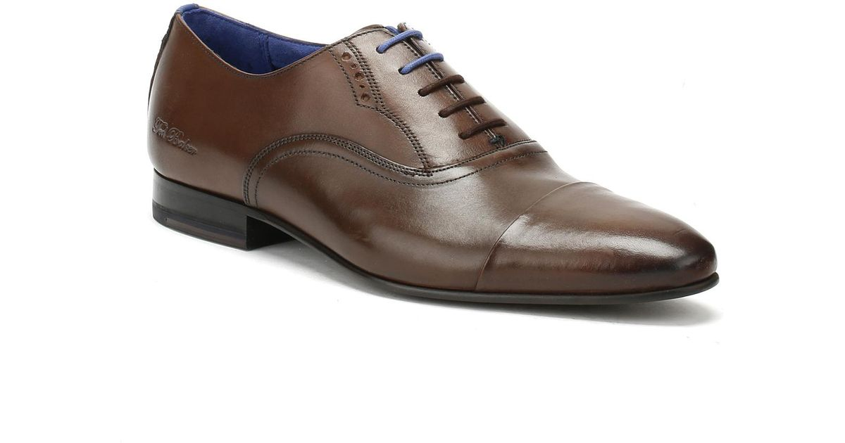 628df9a6c5503b Lyst - Ted Baker Mens Brown Leather Murain Shoes in Brown for Men