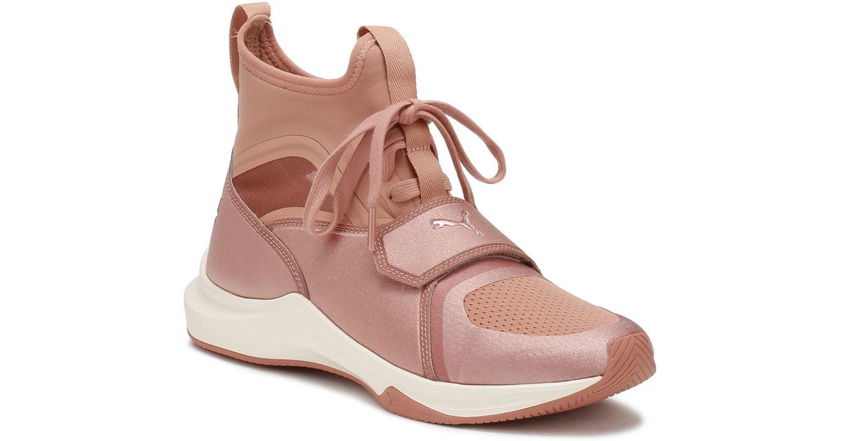 PUMA Womens Selena Gomez Pink Phenom Trainers Women's Shoes (high top Trainers) In Pink