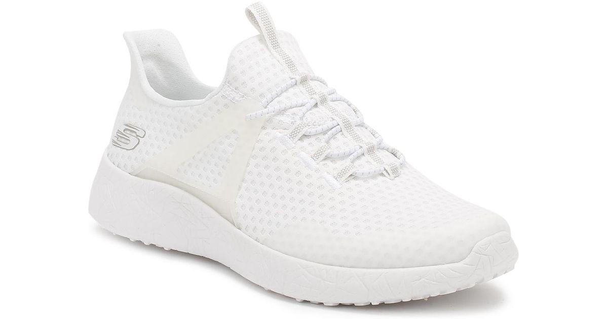 Lyst - Skechers Mens White Burst Shinz Trainers in White for Men