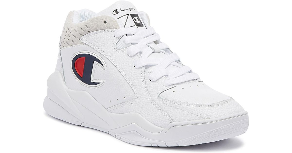 7d4fc0a4f80 Champion Zone Mid Mens White Trainers in White for Men - Lyst
