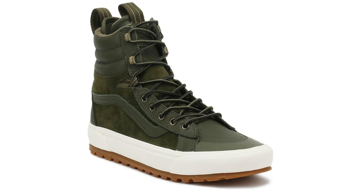 16df1a03660 Lyst - Vans Sk8-hi Mte Dx Grape Leaf Green Boots in Green for Men