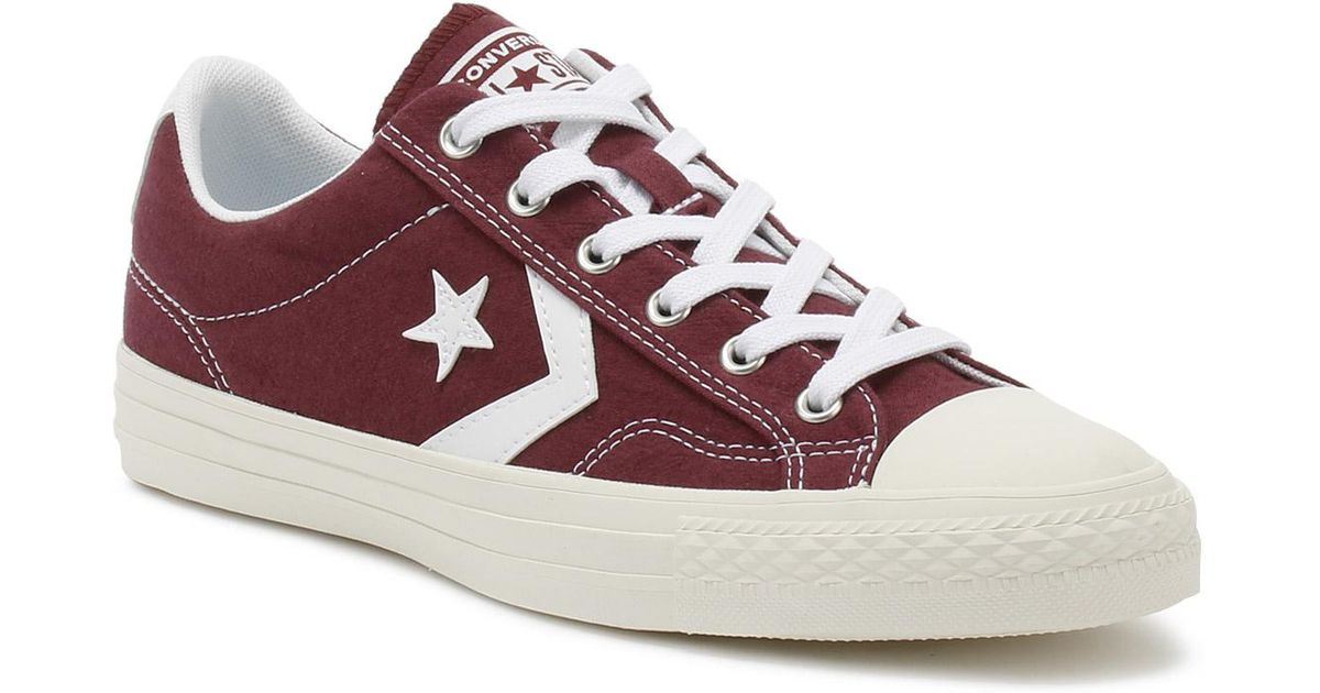 76c02e31c5bf germany lyst converse mens dark burgundy star player suede ox trainers for  men ce321 46a8f