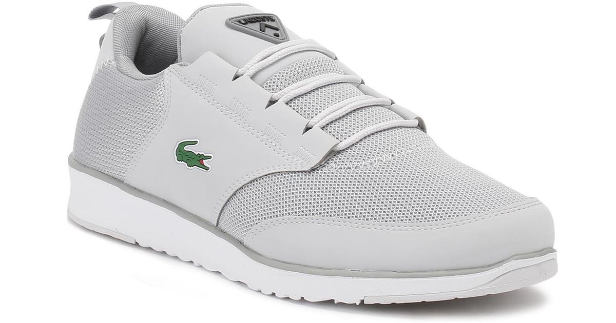 a4b4a9baa49e Lyst - Lacoste Mens Light Grey L.ight 217 1 Spm Trainers in Gray for Men