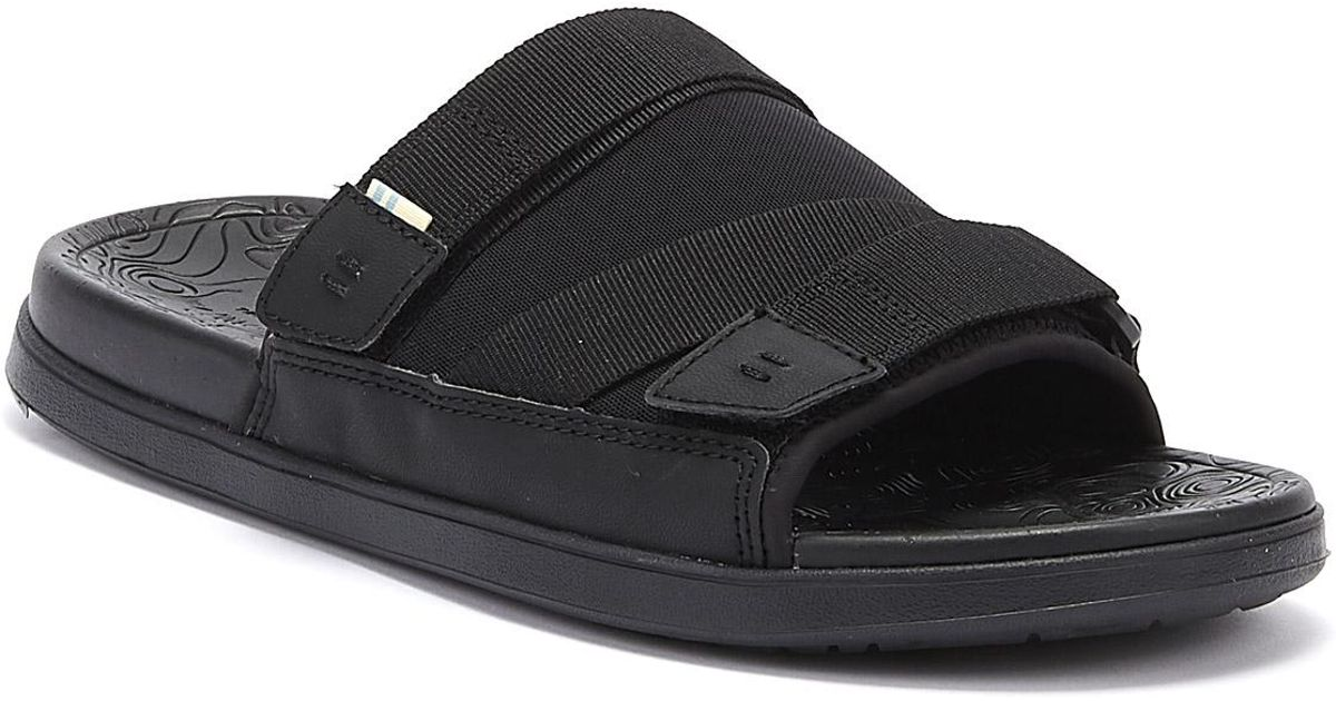 7fbc6847011 TOMS Trvl Lite Mens Black Slides in Black for Men - Lyst
