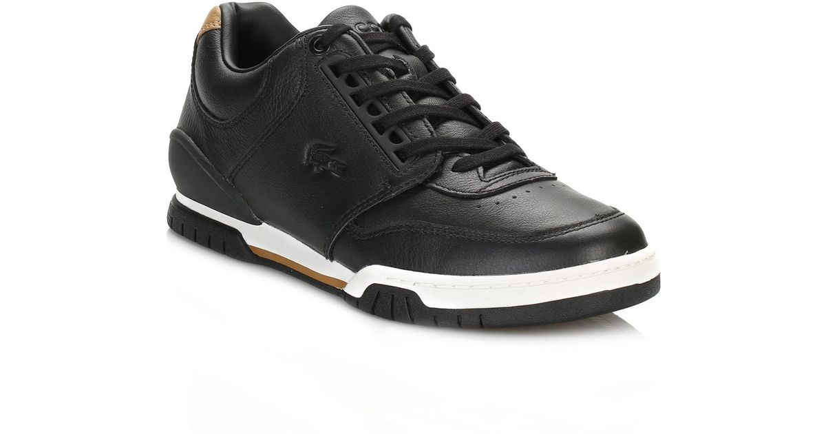 fc17da9574706 Lyst - Lacoste Mens Black Indiana 416 1 Cam Trainers in Black for Men