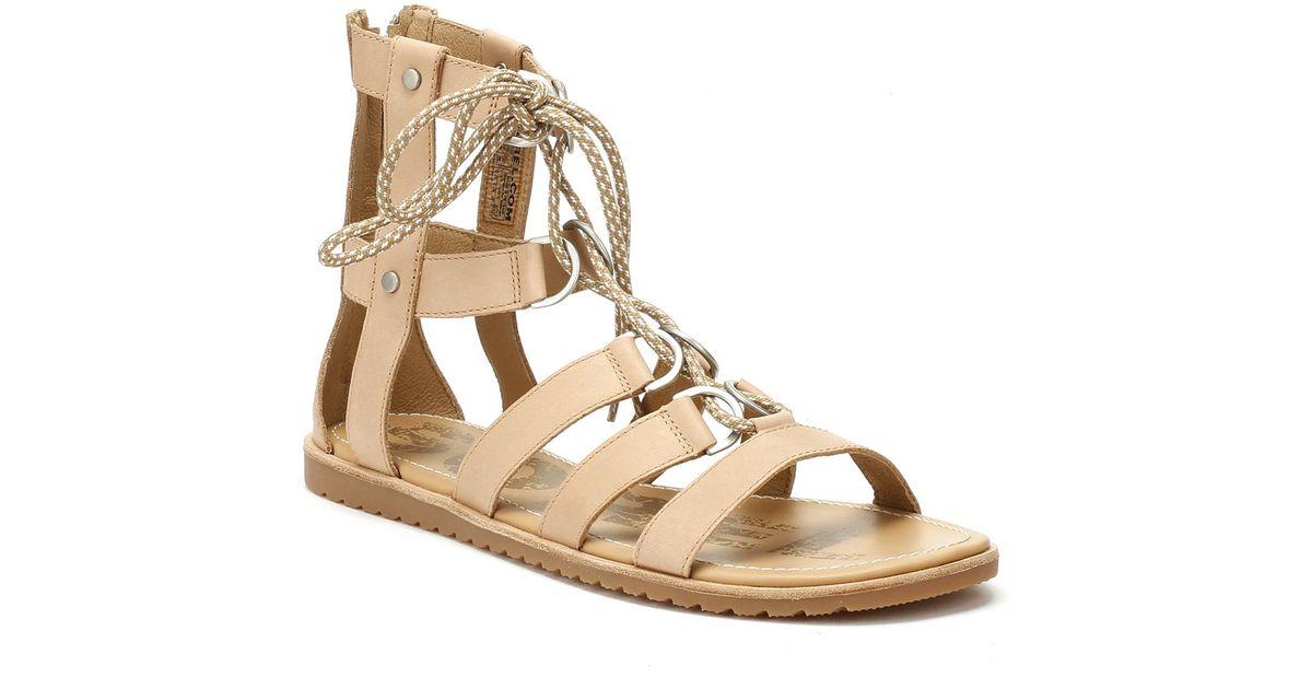 aa212c43eeca Lyst - Sorel Womens Sahara Tan Ella Lace Up Sandals in Brown
