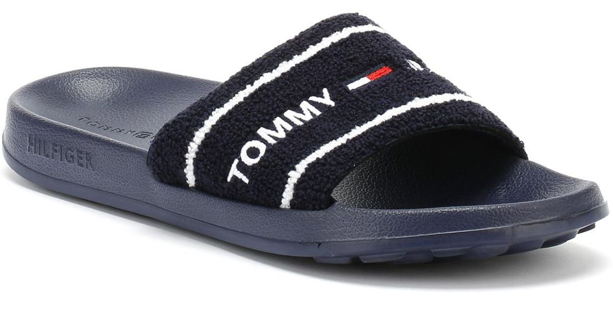 e2cbc09bf07 Tommy Hilfiger Tommy Jeans Summer Slide in Black for Men - Save 34% - Lyst