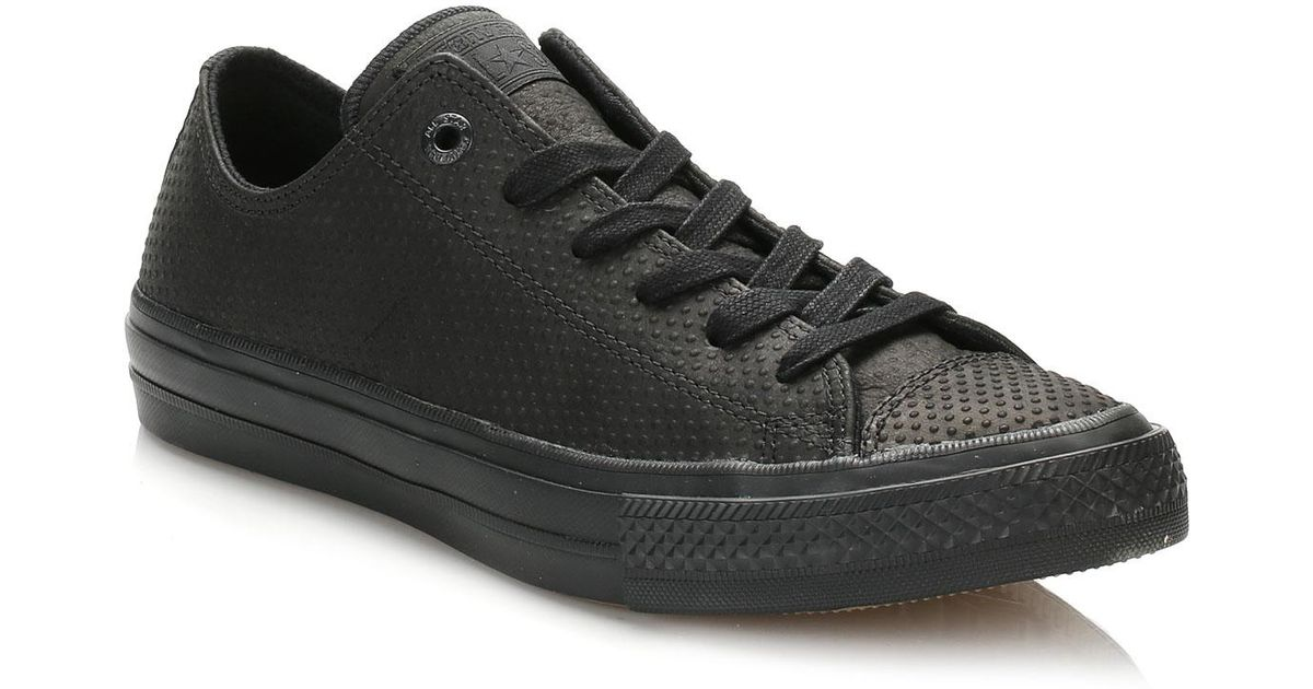 542d8dbcfce9 Lyst - Converse All Star Chuck Taylor Ii Black Ox Trainers in Black for Men