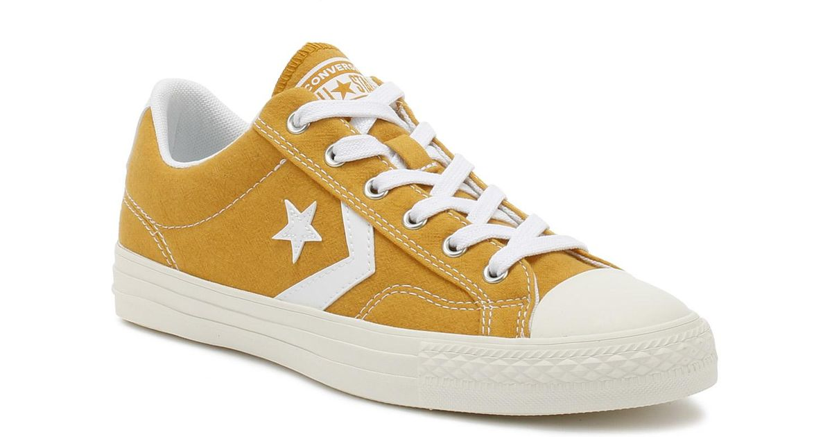 Lyst - Converse Mens Turmeric Gold Star Player Suede Ox Trainers in  Metallic for Men b9e4cc03e
