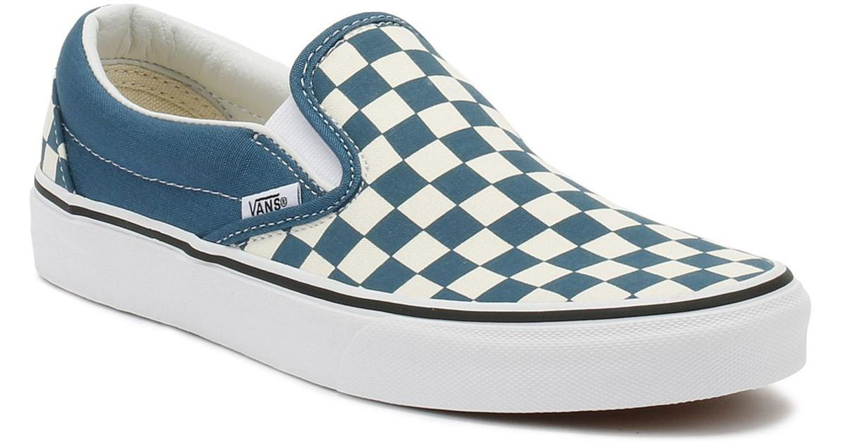 4541c638398f Lyst - Vans Corsair   True White Checkerboard Classic Slip On Trainers