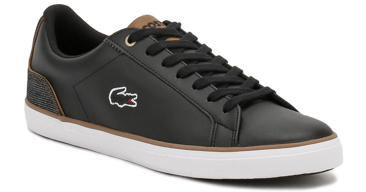d3100d59a034 Lacoste Mens Black   Brown Lerond 317 3 Trainers in Black for Men - Lyst