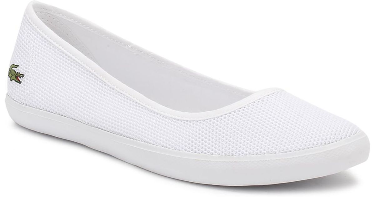 f240ffdc4 Lyst - Lacoste Womens White Marthe 117 1 Caw Shoes in White