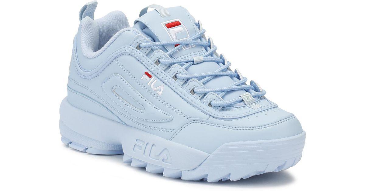 16fffa2920e Fila Disruptor Ii Premium Womens Angel Falls Blue Trainers in Blue - Lyst