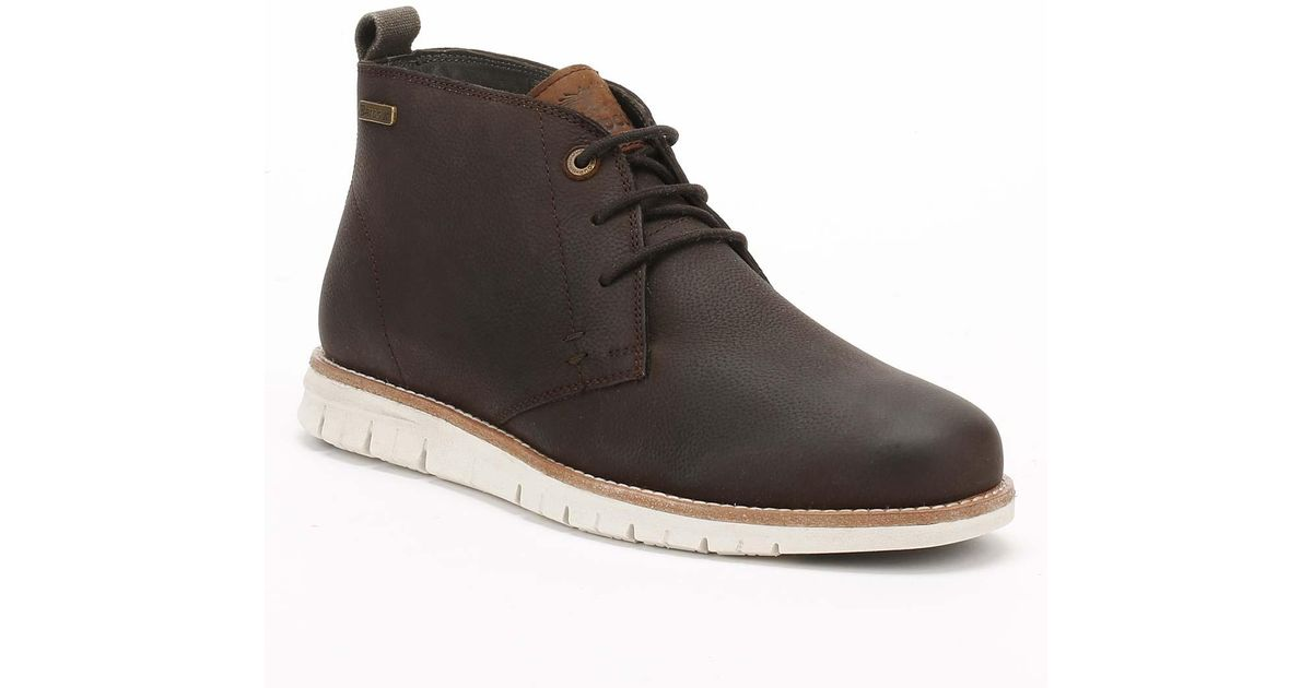 0573fd86186 Barbour - Mens Truffle Brown Shackleton Boots for Men - Lyst