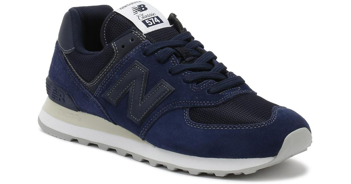 b4acaa590c79 Lyst - New Balance Mens Pigment Navy 574 Classic Trainers in Blue for Men