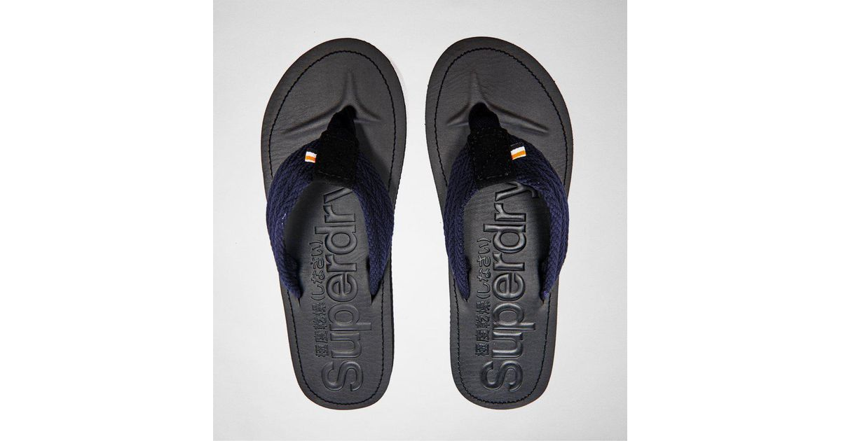 b2eec82938ed Superdry Cove Sandal Black-navy Flip Flops in Blue for Men - Save  33.33333333333333% - Lyst