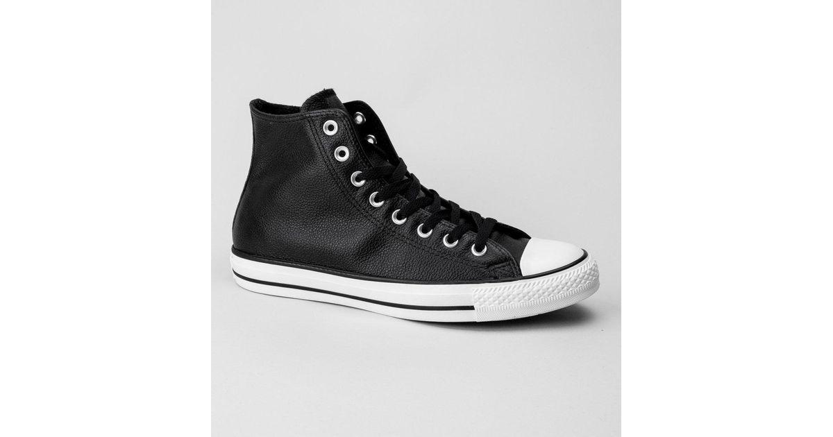 36d5413745d Converse 157468c Ct As Hi Black-egret-black Trainers in Black for Men - Lyst