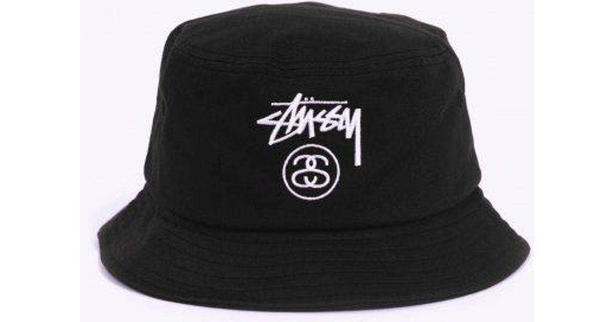 893f47712012b Stussy Stock Lock Bucket Hat in Black for Men - Lyst