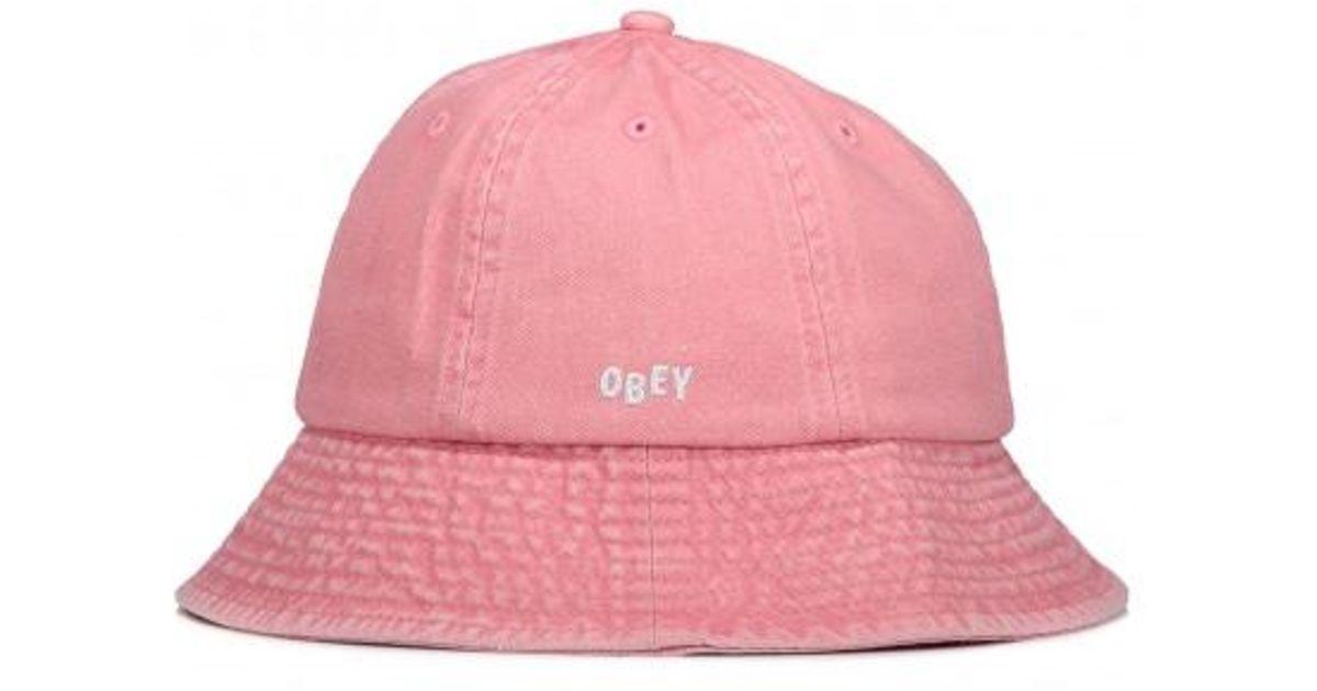 9719ecf67e9 Obey Decades Bucket Hat in Pink - Lyst