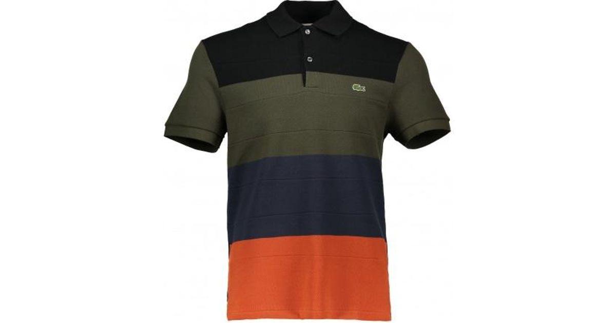 c6f9a9b913 Lacoste Stripe Polo Shirt for Men - Lyst