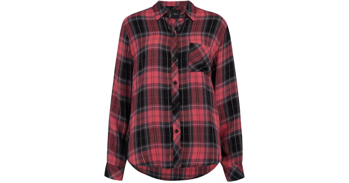 e5c4b9999c90 Rails Hunter Shirt In Scarlet