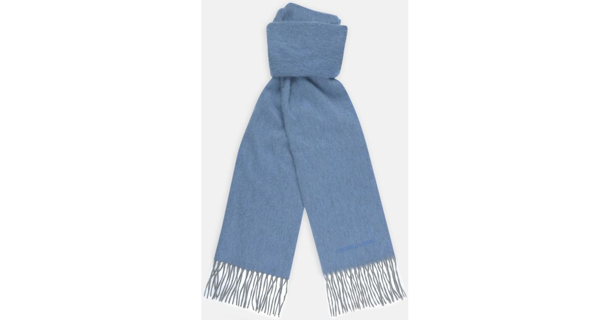 fc7199cd0ea90 Turnbull & Asser Moonstone Blue Pure Cashmere Scarf in Blue for Men - Lyst