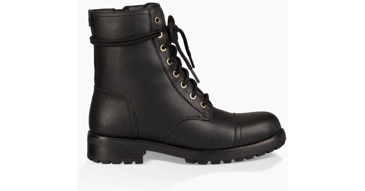 Azaria Waterproof Leather and Suede Cold Weather Moto Block Heel Boots FZcFd